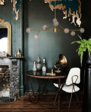 Sophisticated Home Decoration Ideas With Green Paint Combination 18