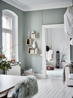 Sophisticated Home Decoration Ideas With Green Paint Combination 20
