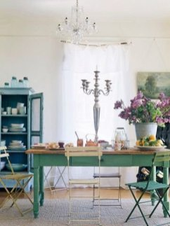 Sophisticated Home Decoration Ideas With Green Paint Combination 49