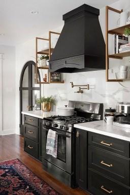 Stylish Black Kitchen Interior Design Ideas For Kitchen To Have Asap 06