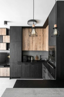 Stylish Black Kitchen Interior Design Ideas For Kitchen To Have Asap 22
