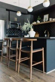Stylish Black Kitchen Interior Design Ideas For Kitchen To Have Asap 23