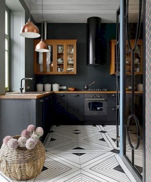 Stylish Black Kitchen Interior Design Ideas For Kitchen To Have Asap 27