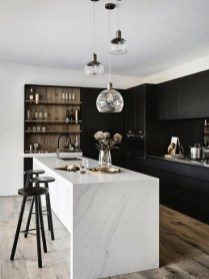 Stylish Black Kitchen Interior Design Ideas For Kitchen To Have Asap 29