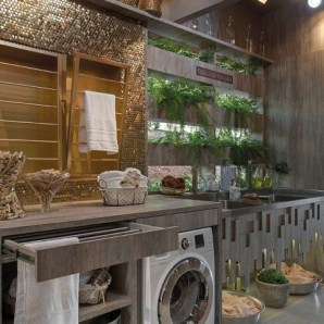 Inexpensive Tiny Laundry Room Design Ideas With Nature Touches 13