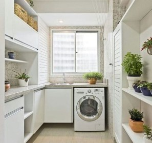 Inexpensive Tiny Laundry Room Design Ideas With Nature Touches 20