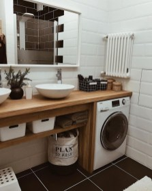 Inexpensive Tiny Laundry Room Design Ideas With Nature Touches 21