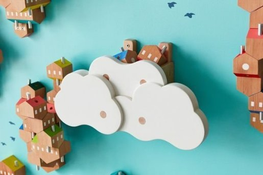 Magnificient Wooden Sky Villages Building Ideas For Interactive Kid Walls 01