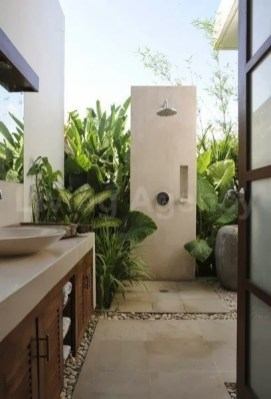 Sophisticated Outdoor Bathroom Design Ideas That Feel Like A Vacation 09