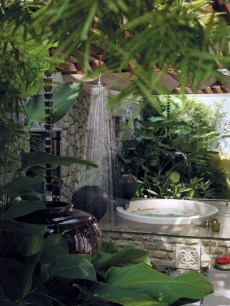 Sophisticated Outdoor Bathroom Design Ideas That Feel Like A Vacation 13