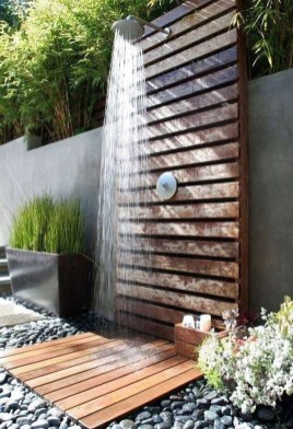 Sophisticated Outdoor Bathroom Design Ideas That Feel Like A Vacation 45
