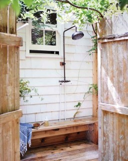 Sophisticated Outdoor Bathroom Design Ideas That Feel Like A Vacation 47