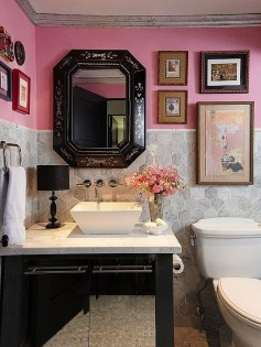 Sophisticated Pink Colors Design Ideas To Transform Your Bathroom 23