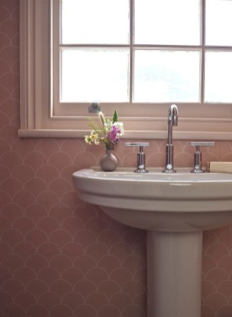 Sophisticated Pink Colors Design Ideas To Transform Your Bathroom 27