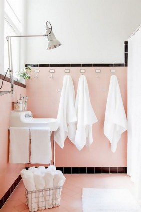 Sophisticated Pink Colors Design Ideas To Transform Your Bathroom 34