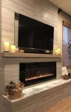 Superb Fireplaces Design Ideas Without Fire To Try In Your Home 25
