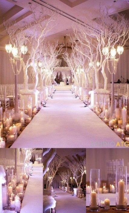 Astonishing Winter Wedding Theme Design Ideas With Winter Inspired 40