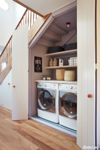 Best Tiny Laundry Spaces Design Ideas That So Functional 04