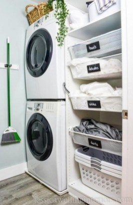Best Tiny Laundry Spaces Design Ideas That So Functional 33