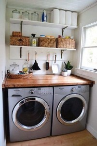 Best Tiny Laundry Spaces Design Ideas That So Functional 39