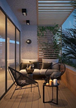 Comfy Balcony Design Ideas To Try Right Now 27