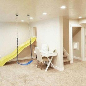 Cozy Basement Renovations Design Ideas For Kids Room That Looks So Awesome 02