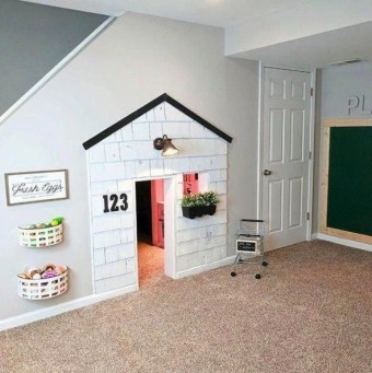 Cozy Basement Renovations Design Ideas For Kids Room That Looks So Awesome 45