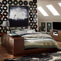 Cozy Bedroom Design Ideas With Music Themed That Everyone Will Like It 15