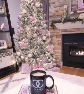 Pretty Pink Winter Tree Decorating Ideas That Looks So Awesome 02