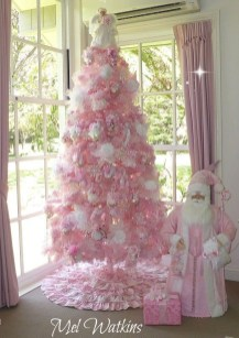 Pretty Pink Winter Tree Decorating Ideas That Looks So Awesome 04