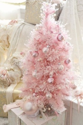 Pretty Pink Winter Tree Decorating Ideas That Looks So Awesome 09