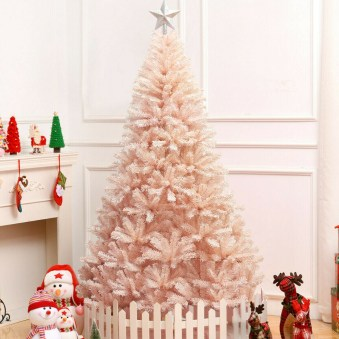 Pretty Pink Winter Tree Decorating Ideas That Looks So Awesome 10