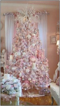 Pretty Pink Winter Tree Decorating Ideas That Looks So Awesome 12