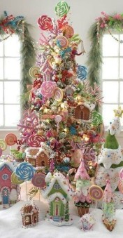Pretty Pink Winter Tree Decorating Ideas That Looks So Awesome 14
