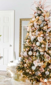 Pretty Pink Winter Tree Decorating Ideas That Looks So Awesome 20