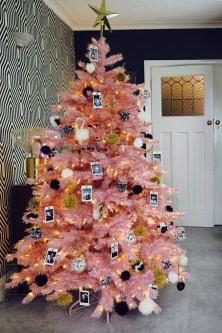 Pretty Pink Winter Tree Decorating Ideas That Looks So Awesome 21