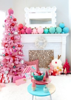 Pretty Pink Winter Tree Decorating Ideas That Looks So Awesome 31