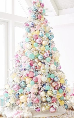 Pretty Pink Winter Tree Decorating Ideas That Looks So Awesome 42