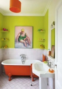 Top Fresh Orange Bathroom Design Ideas To Try Asap 30