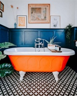 Top Fresh Orange Bathroom Design Ideas To Try Asap 32