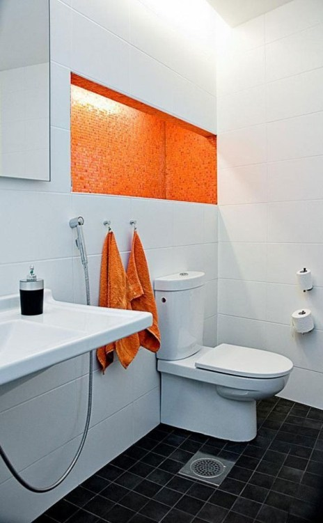 Top Fresh Orange Bathroom Design Ideas To Try Asap 37