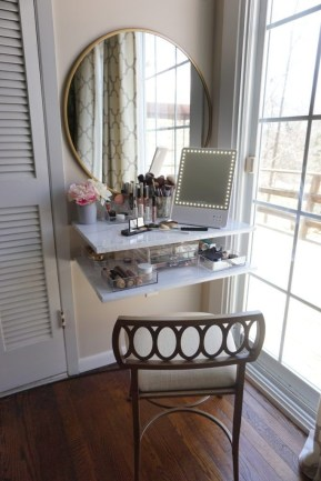 Affordable Home Decoration Ideas With Makeup Vanity That Can Inspire You 27