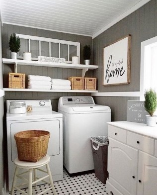 Astonishing Small Laundry Room Design Ideas For Organization To Try 34