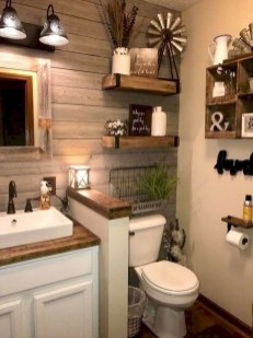 Brilliant Bathroom Wall Décor Ideas That Will Awesome Your Home 05
