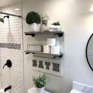 Brilliant Bathroom Wall Décor Ideas That Will Awesome Your Home 31