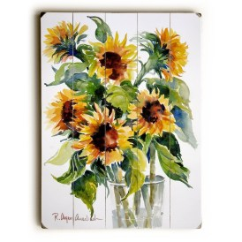 Cool Wood Sunflower Wall Decor Ideas That You Need To Try 01