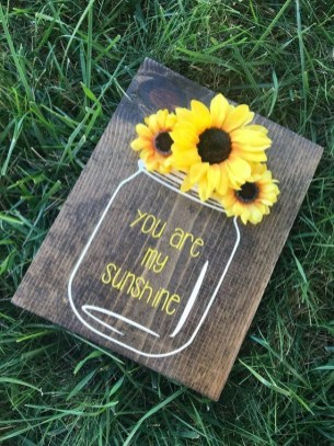 Cool Wood Sunflower Wall Decor Ideas That You Need To Try 23