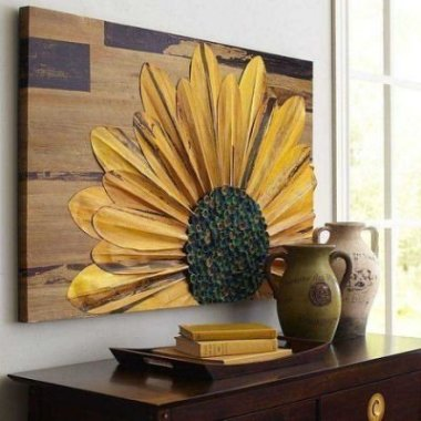 Cool Wood Sunflower Wall Decor Ideas That You Need To Try 44