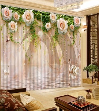 Stunning Bedroom Decoration Ideas With Flower Curtain To Try Right Now 09