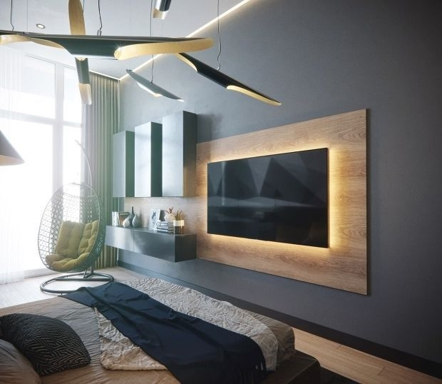 Stylish Bedroom Design Ideas With Tv Wall To Try Asap 12